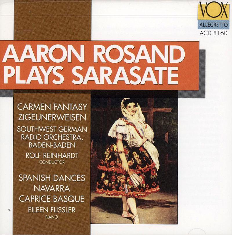 plays Sarasate - Carmen Fantasy / Zigeunerweisen / Spanish Dances / Navarra