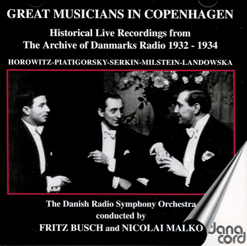 Great Musicians in Copenhagen 1932-1934