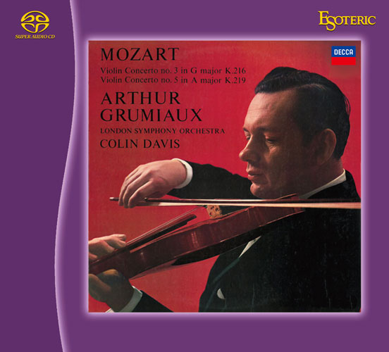 Violin Concerto No. 3 in G major, K. 216 / Violin Concerto No. 5 in A major, K. 219 / Sinfonia concertante