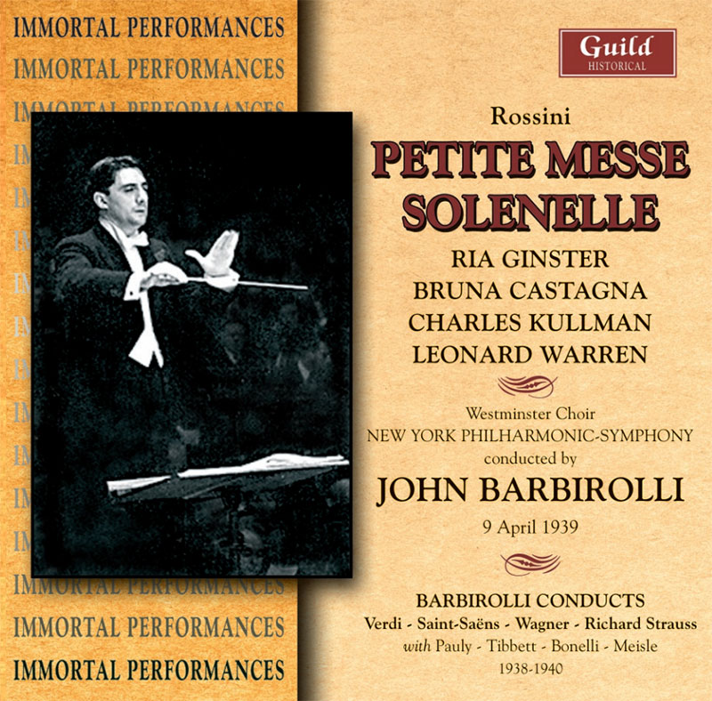 Petite Messe Solenelle / Barbirollo conducts Verdi, Saint-Saens, Wagner, Richard Strauss