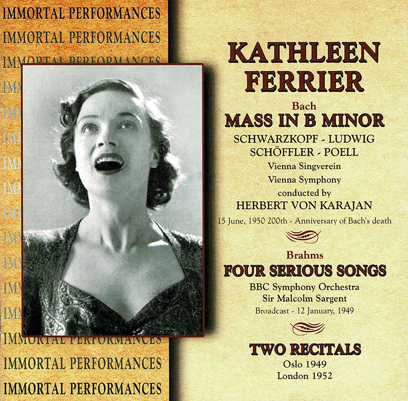 Mass in B minor / Four Serious Song / Two Recitals