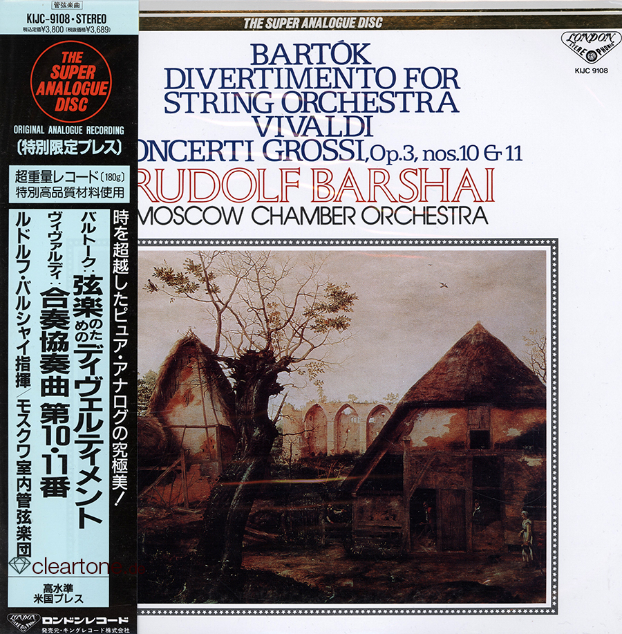 Divertimento for string orchestra / Concerti Grossi Op.3 Nos. 10 and 11