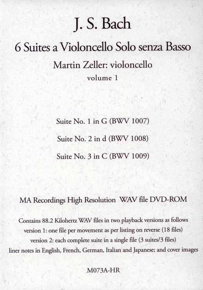 6 Suites a Violoncello Solo Senza Basso Vol. 1