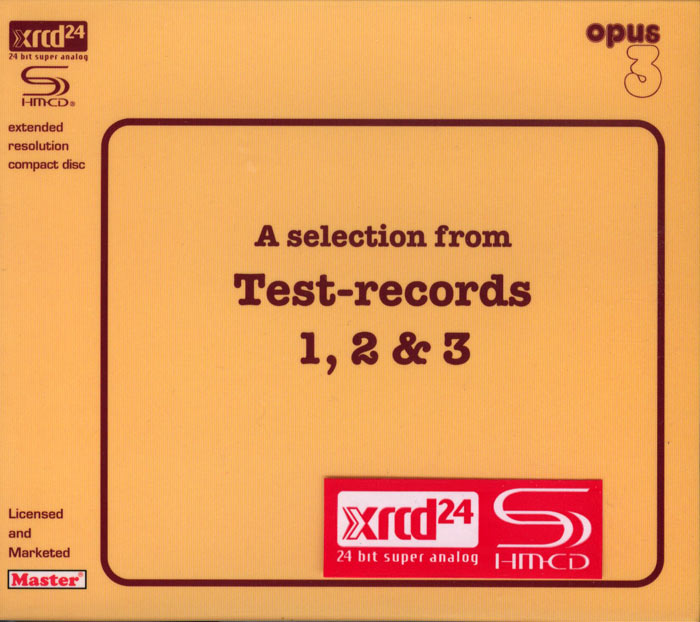 Test-records 1, 2 and 3 (Depth of image, Timbre, Dynamics)