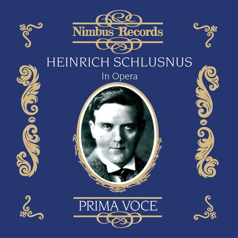 Heinrich Schlusnus in Opera - 1919-1925