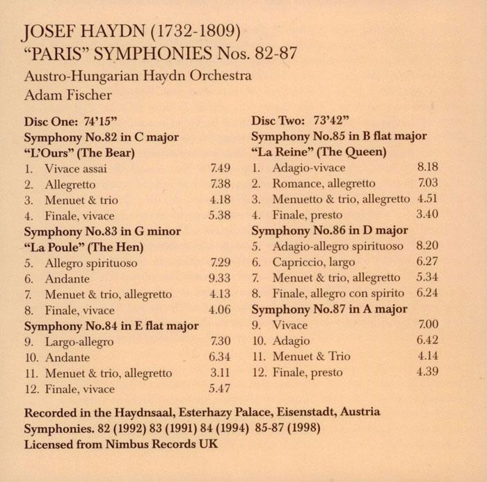 Haydn: Symphonies 82-87 / Dutoit, Sinfonietta De Montreal