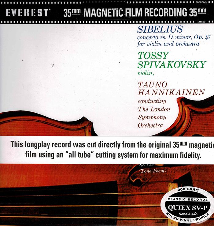 Concerto in D minor, Op. 47 /a Tapiola - Tone Poem, Op. 112 - Everest Records
