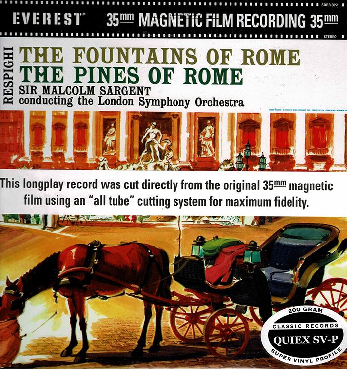 Fountains of Rome / Pines of Rome - Everest Records image