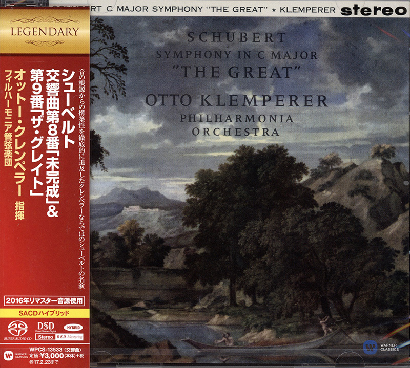 Symphony  No. 8 in B minor, UNFINISHED / Symphony NO. 9 in C major THE GREAT